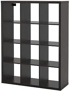 IKEA/イケア KALLAX/カラックス:シェルフユニット112x147 cm ブラックブラウン (004.099.37)