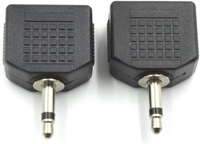 Hxchen 3.5mm Mono Male to Today's only Austin Mall Splitte Audio Y Dual Female