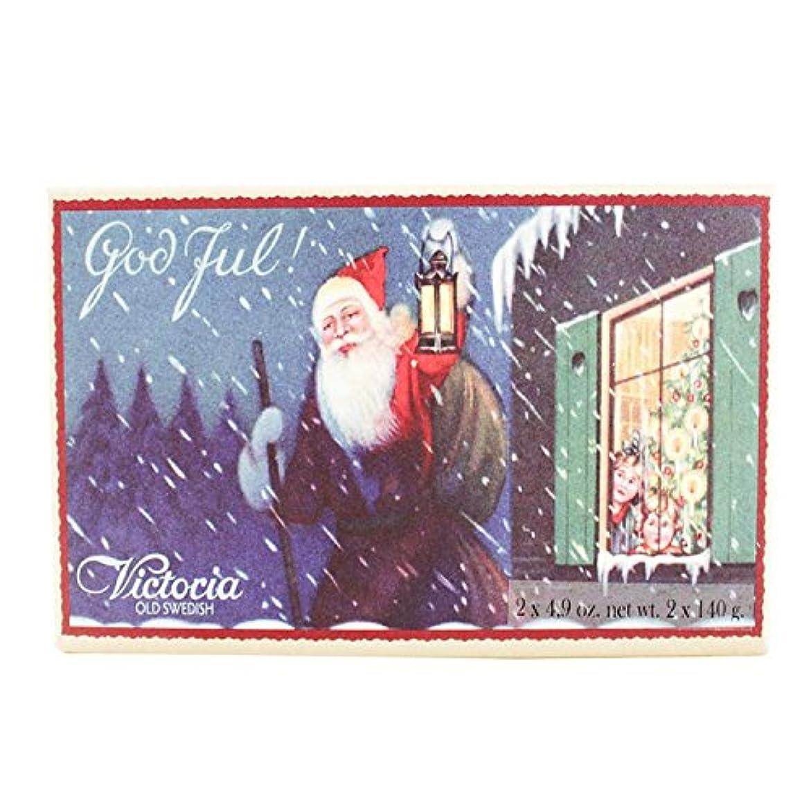 食器棚蜂受動的ヴィクトリア クリスマス ソープ 140g×2