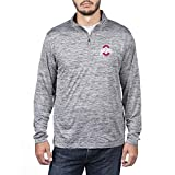 Top of the World NCAA Men's Ohio State Buckeyes Dark Heather Space Dyed Poly Quarter Zip Pullover Graphite Large
