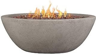 Real Flame C539LP-GLG Riverside Gas Fire Bowl, Glacier Gray