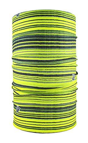 HeadLOOP Multifunktionstuch Stripes Schal Halstuch Kopftuch Mikrofaser (Gelb)
