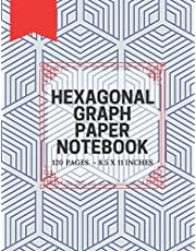 Hexagonal Graph Paper Notebook - 120 pages - 8.5 x 11 Inches: 1/4 Inch Hexagons, 120 Sheets: Hex Graph Paper For Drawing organic chemistry ... Graphs, Structuring Sketches and etc.
