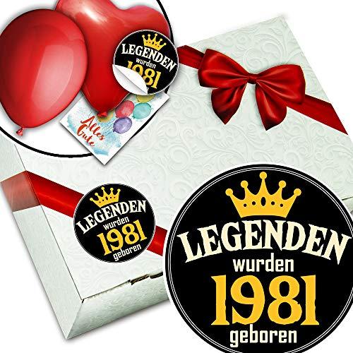 Legenden 1981 + Geschenke Kiste + 1981 Jahrgang