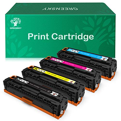 GREENSKY Compatible Toner Cartridge Replacement for HP 128A CE320A CE321A CE322A CE323A for HP Color Laserjet CP1525n CP1525nw CM1415fn CM1415fnw (4-Pack)