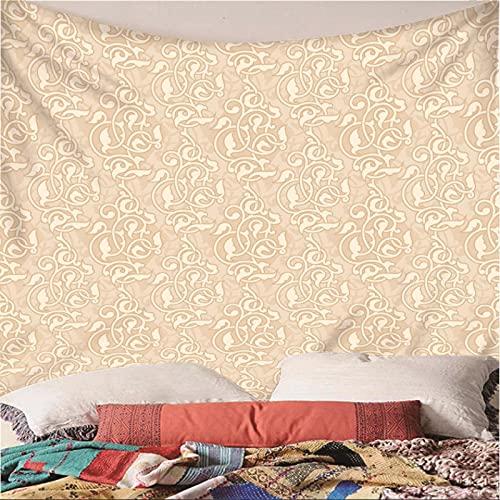 Weibing Tapiz de impresión en Color 3D Estilo nórdico Moda patrón Creativo patrón Colgante de Pared decoración para Dormitorio Sala de Estar 300(An) x260(H) cm