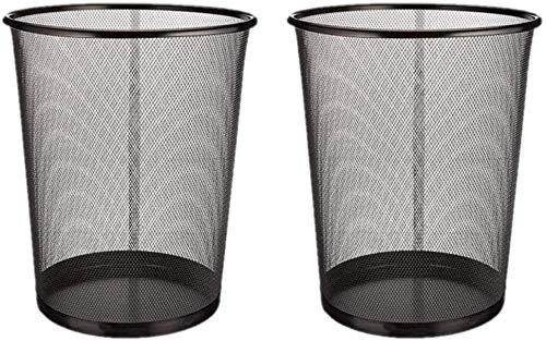 Mülleimer | schwarzer Papierkorb für die Küche, das Büro oder das Zimmer | 29,5 x 35 cm | Euroxanty Haushaltsartikel | 19 l | 2 Stücke