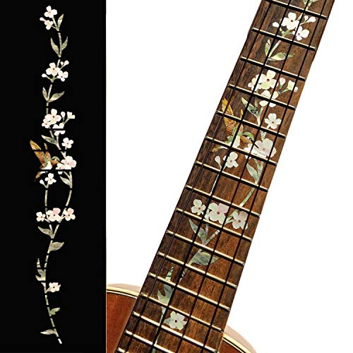 Ukulele–Concert Griffbrett Marker Inlay Aufkleber Aufkleber Baum des Lebens W/Kolibri