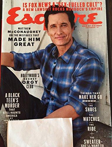 Esquire Magazine (November, 2016) Matthew McConaughey Cover
