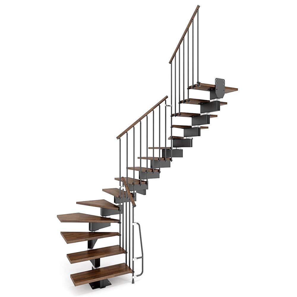 Escalera con rampa modulares a u mobirolo capacitivo Nogal y negro varios tamaños: Amazon.es: Bricolaje y herramientas
