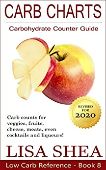 Carb Charts - Carbohydrate Counter Guide (Low Carb Reference) by [Lisa Shea]