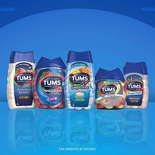 Tums Ultra 1000 Antacid Chewable Tablets Peppermint 72 Ct