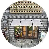 透明な窓の屋根の天蓋、サイレント台風対策基板自転車ガレージ用レインスノーシェルター、頑丈なアルミニウム合金サポート付き