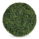 Relaxdays Buchsbaumkugel Bola de boj Artificial, 45 cm de diámetro, montada, Intemperie, Resistente a los Rayos UV, plástico, Color Verde