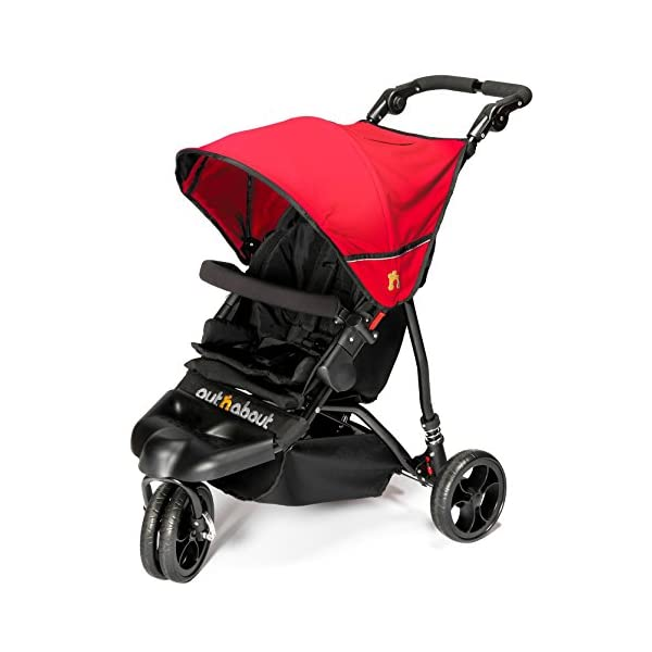 Out n About Little Nipper (Poppy Red) Out 'n' About Suitability? Newborn to 22kg / 50lb (4 years approx) Ultra compact and super lightweight at less than 8kg & One hand fast fold Multi-position reclining seat with lay-flat newborn position 1