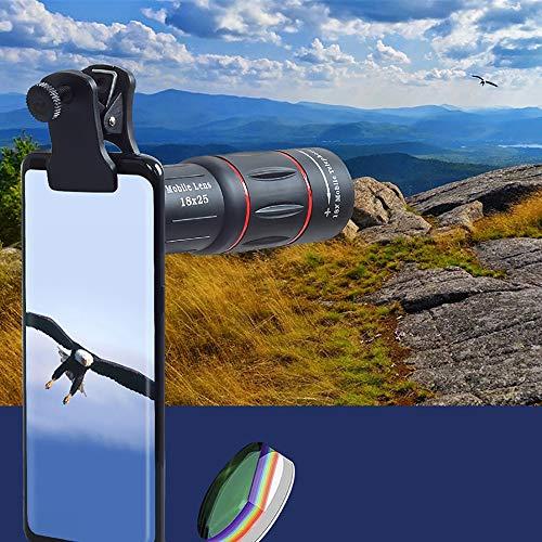 DKEE Binoculars 18 Mal Hohe Vergrößerung Liste Fernglas/Universal-Handy-Kamera-Objektiv Bequem Teleskop