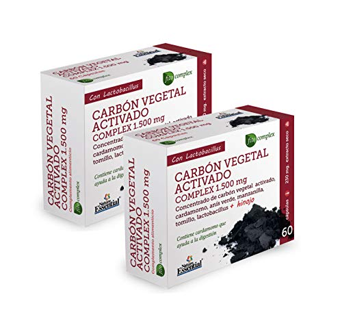 Carbón vegetal activado (complex) 1500 MG. (ext. seco) 60 capsulas (Pack 2 unid.)