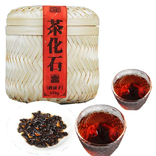 500g (1.1LB) Rijpe Pu'er-thee Oude Puer-thee Yunnan kleverige rijst Smaakthee Zwarte thee Gekookte Pu-erh-thee Pu erh-thee Chinese thee Gezonde Puerh-thee Rode thee Groen Goed Shu cha Zwarte thee