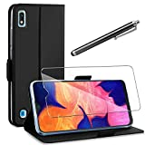 AROYI Coque Samsung Galaxy A10+Protection Écran+Tactile Capacitif Stylus,360 Degres Protection Étui Housse Cuir TPU Silicone...