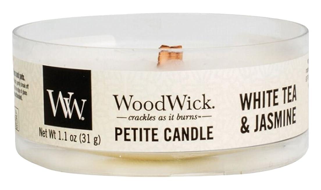 スーツケースアヒル開業医Wood Wick ウッドウィック プチキャンドル ホワイトティージャスミン
