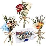 UFLF 3pcs Mini Ramos de Flores Rosas Naturales Secas...