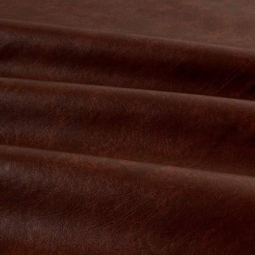 Plastex Fabrics Faux Leather Buffalo Chocolate Yard