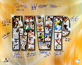 MLB Most Valuable Players Autographed 16x20 Photo With 12 Signatures Including Pete Rose, Kirk Gibson, Jim Rice & Rod Carew Stock #77911 - PSA/DNA Certified