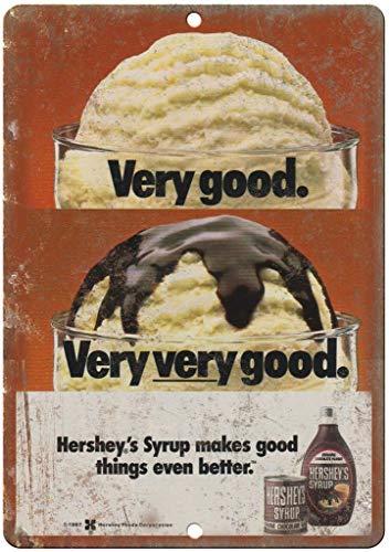 niet Hersehy Chocolade Siroop Ijs Tin Metalen Teken Plaque Vintage Retro Ijzeren Muur Waarschuwing Poster Decor Voor Bar Café Store Home Garage Office Hotel
