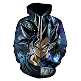 DBZ Goku and 3D Printing Pullover 16 Asian Size L