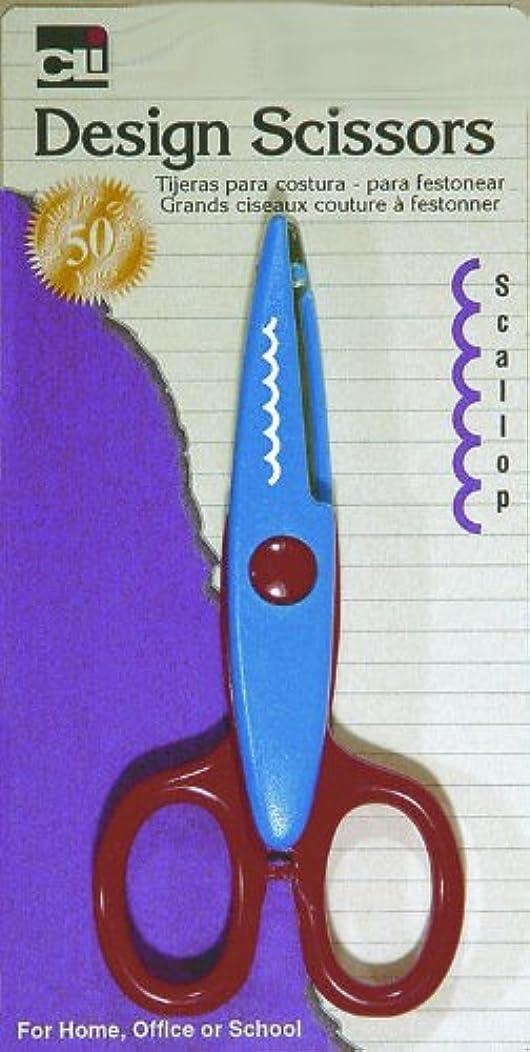 Charles Leonard Design Cut Scissors, Scallop, Assorted Colors (80565)
