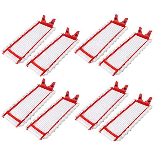 Recambio de almohadillas de microfibra para Vileda UltraMax Mop de recambio para vaporizador, cabezal de Vadrol, plano, 8 unidades