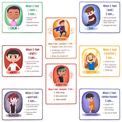 How I'm Feeling Classroom Posters Set (8-Pack) 17' x 22'   Motivational Classroom Decor   Build Emotional Vocabulary & Develop Coping Strategies   Behavioral Therapy, Autism, Special Education