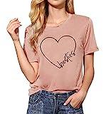 MNLYBABY Besties Shirt Best Friends Shirts for Women Heart Print Short Sleeve Casual Friends Top Tee Yellow