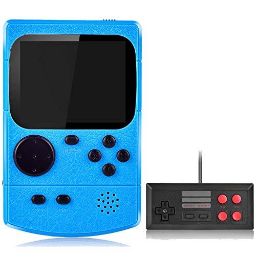 Kiztoys Consola de Juegos Portátil Consola Retro 400 Juegos Clásicos y Pantalla a Color de 2.8 Pulgadas para 2 Jugadores Soporte TV Juegos Portátiles Consolas Juega 3 Horas para Niños y Adultos