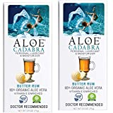 Aloe Cadabra Personal Lubricant, Natural Butter Rum Flavored Lube for Sex, Oral, Women, Men & Couples, 2.5 Ounce (Pack of 2)