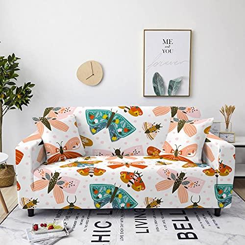 Gpink Fundas De Sofá De La Serie De Impresión De Mariposas En Color Todo Incluido Funda De Sofá Antideslizante Simple Funda Completa Tela De Muebles para El Hogar De Hotel De Gran Estiramiento