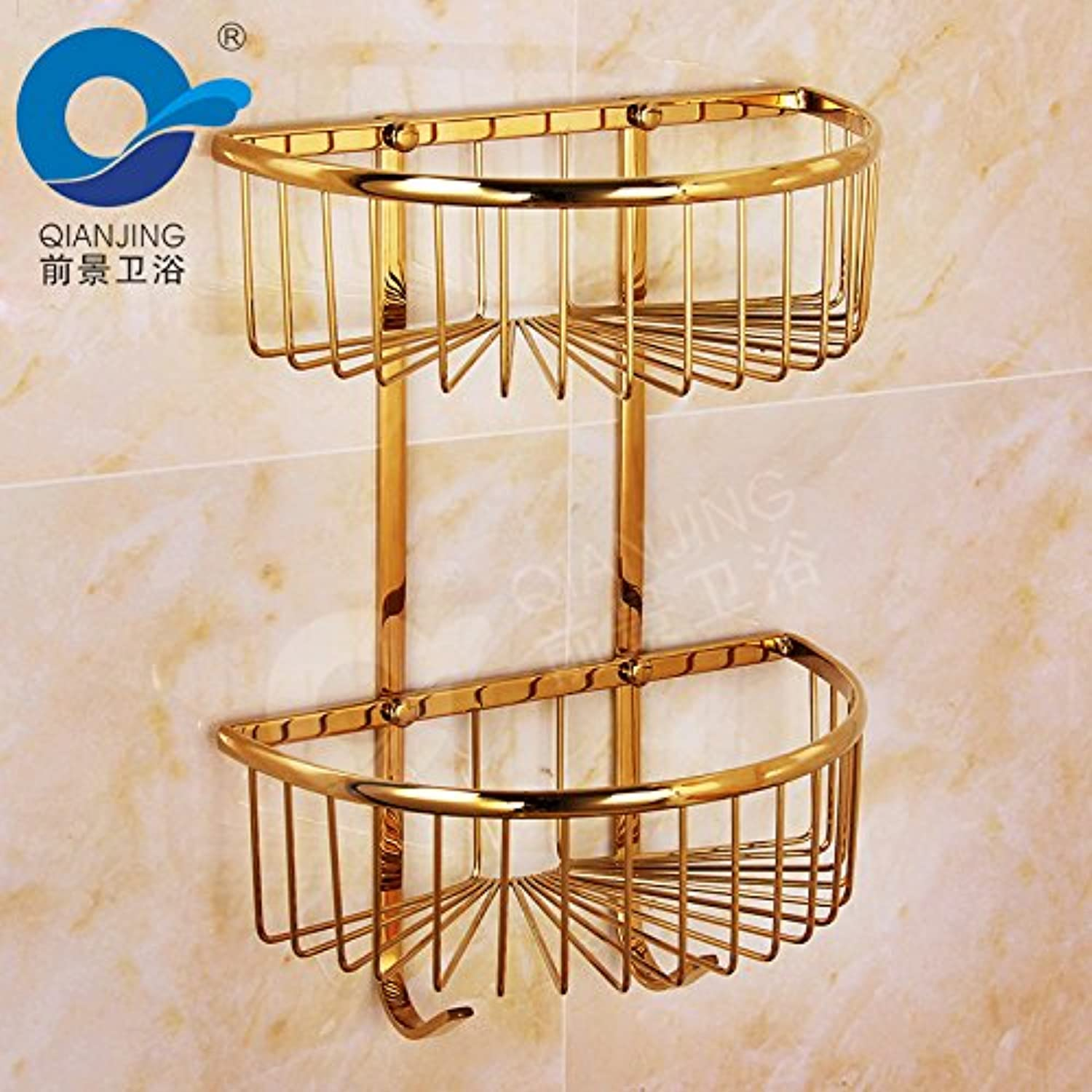Stainless steel shelf bathroom double triangle racks kitchen and bathroom shelves 275375160mm