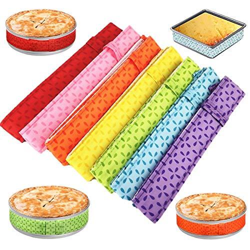 Cake Strips, 2-Pieces Cake Pan Strips, Bake Even Cake Strips for Evenly Baked Cakes, Cake Pan Wraps for Even Baking, Cake Strips for Even Baking, Bake Even Strip, Cake Strips for Baking