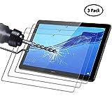 Didisky Panzerglas Hartglas Bildschirmschutzfolie für Huawei MediaPad T5 10.1 Zoll, [ 3er Pack ] Kratzfest, 9H Festigkeit, Keine Blasen, High Definition, Einfach anzuwenden, Fall-fre&lich