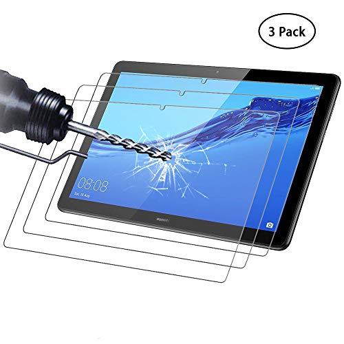 Didisky Pellicola Protettiva in Vetro Temperato per Huawei MediaPad T5 10.1 Pollici, [Tocco Morbido ] Facile da Pulire, Facile da installare, Trasparente (3Pezzi)