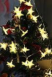 Uping Led Lichterkette Sterne 30er Batterienbetriebene für Party, Garten, Weihnachten, Halloween, Hochzeit, Beleuchtung Deko usw. 4,5M warm weiß - 7