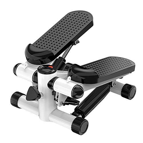 KALINU Mini Stepper, Stepping Machine Haushalt Silent Twist Fitnessgerät mit Widerstandsbändern, geeignet für Wohnzimmer, Büro, Fitnessstudio (schwarz)
