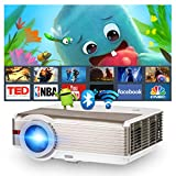 Wireless HD Bluetooth Projector LCD Outdoor Movie 6200 Lumen Home Theater Screen Mirroring Projector 200 Inch Display Zoom Gaming for iPhone Android Phone Tablet Laptop TV Stick DVD PS5 Wii HDMI USB -  ZCGIOBN