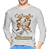 Cinderella Band Tシャツ メンズ 長袖 カットソー スポーツ インナー 吸汗速乾 ファッション カジュアル かっこいい トップス ゆったり 薄手 4色 大きいサイズ