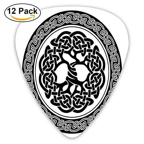 Figura celta nativa del árbol de la vida de Irlanda Renacimiento artístico temprano Diseño moderno Elecciones de guitarra