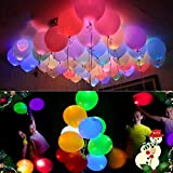 20 LED Light Up Balloons Mixed Colors Flashing Lasts 24 Hours Party Birthday Wedding Decorations