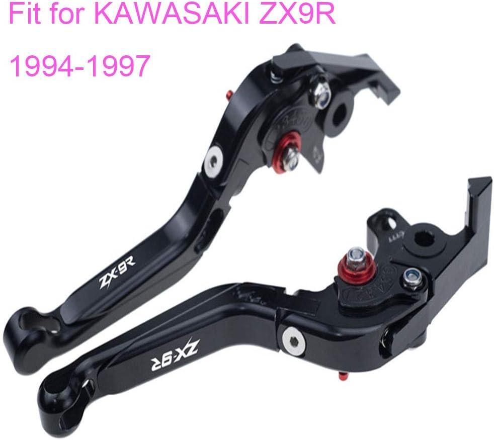 Black PRO-KODASKIN Folding Extendable Brake Clutch Levers for KAWASAKI ZX9R 1994-1997
