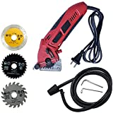 Mini Circular Saw Machine Set with 3 Saw Blade 400W High Powered Professional Multi-functional Circular Saw for Ceramic Grout Masonry Marble Stone