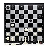 10' Magnetic Folding Chess and Checkers Set / Suitable for Travel and Starters