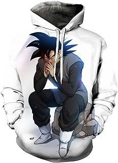 Boys/Mens 3D Dragon Ball Z Hoodies Printed Pullovers Sportswear Sweatshirts Cosplay Costume